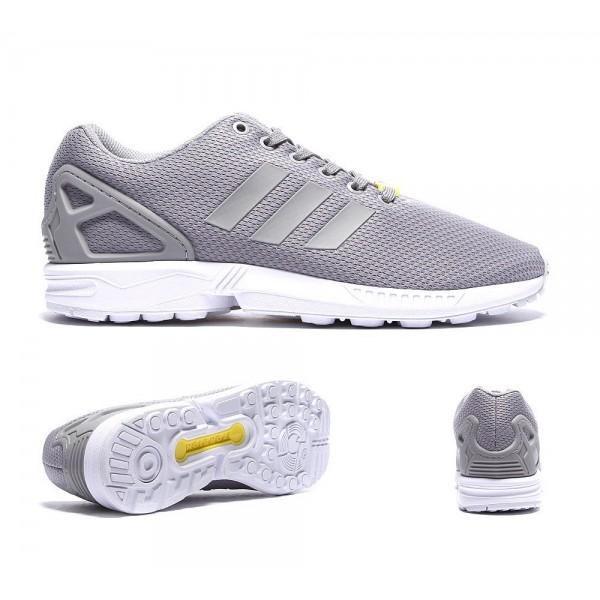 Adidas Originals ZX Flux Trainer Aluminium und Weiß Günstig kaufen