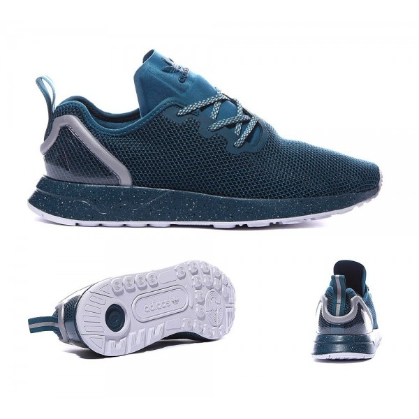 Adidas Originals ZX Flux Racer Asym Trainers Schla...