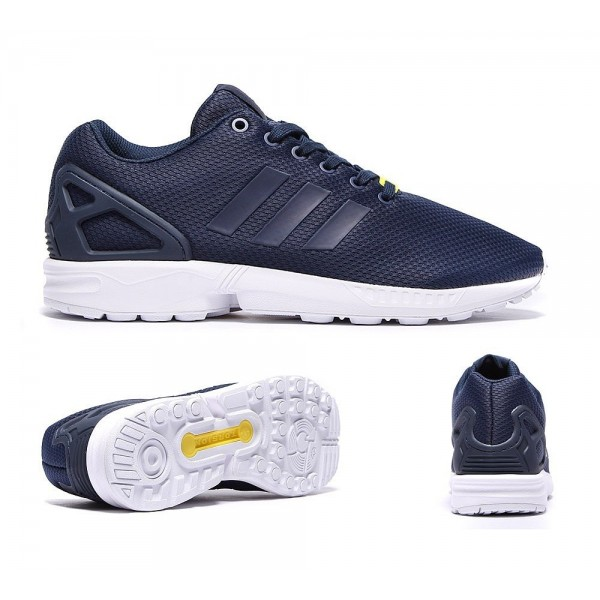 Adidas Originals ZX Flux Trainer Navy und Weiß G�...