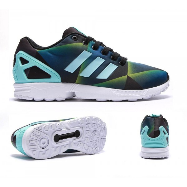 Adidas Originals ZX Flux Trainers White Clear Aqua...