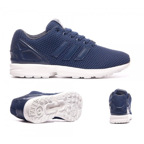 Adidas Originals ZX Flux Trainer Navy und Weiß Ve...
