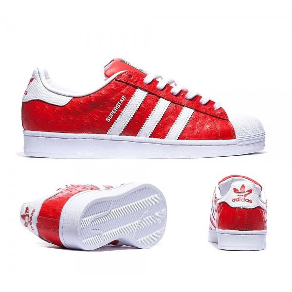 Adidas Originals Superstar Tiertrainer Rot und Wei...
