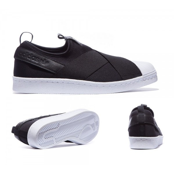 Adidas Originals Superstar Slip-on-Sneaker Carbon ...