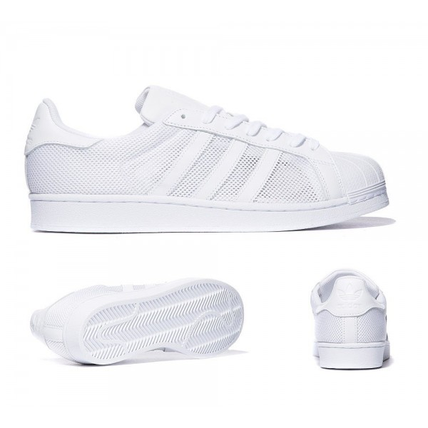 Adidas Originals Superstar Mesh-Trainer Triple-Weiß Verkäufe