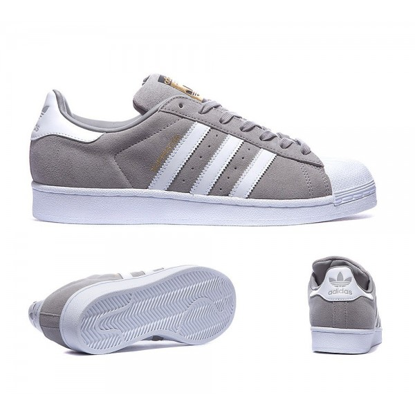 Adidas Originals Superstar Turnschuhe aus Wildlede...