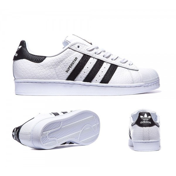 Adidas Originals Superstar Tiertrainer Weiß und Schwarz Marken