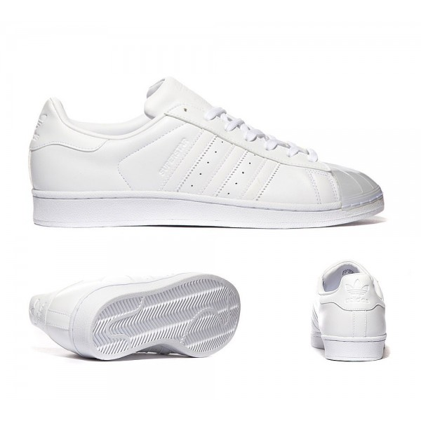 Adidas Originals Superstar Glossy Toe Sneaker Wei�...